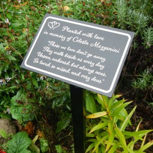 Those We Love Don't Go Away Personalized Garden / Tree Marker