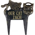 Angel Cat Memorial Marker. Personalized