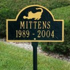Playful Cat Memorial Marker. Personalized