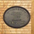 "Oval Wedding - Anniversary ""House"" Plaque. Personalized"