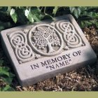 "Celtic Tree ""In Memory of"" Garden Memorial Stone. Personalized"