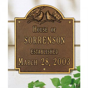 Cardinal Anniversary - Wedding House Plaque. Personalized
