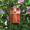 "Medium ""STAINED GLASS CROSS"" Amazing Grace Chime"