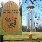 "Medium ""LISTEN TO THE WIND"" Amazing Grace Chime (A FAVORITE!)"