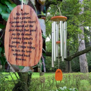 "Medium ""FATHER'S LEGACY GARDEN OF THE HEART"" Chime. Personalized"