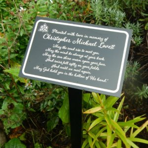 Irish Blessing Personalized Garden / Tree Marker