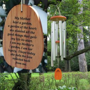 "Medium ""MOTHER'S LEGACY GARDEN OF THE HEART"" Chime. Personalized"