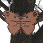 "Tree Charm™ - BUTTERFLY Shaped ""Charmlet."" Personalized"