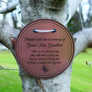 "Tree Charm™ - ROUND. ""Those We Love..."" Personalized"