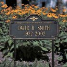 "Arlington ""Living Eternally in Hearts"" Marker. Personalized"