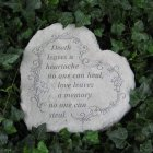 Love Leaves a Memory Garden Stone