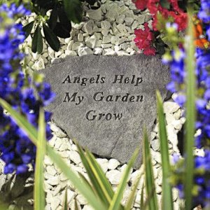 Angels Help My Garden Grow Stone