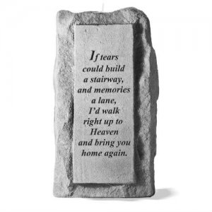 Cast Stone Votive Memorial Candleholder - 3 Phrases