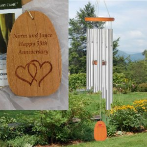 "Medium ""ANNIVERSARY"" Wind Chime. Personalized"