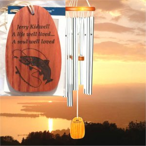 "Medium ""A SOUL WELL LOVED"" Amazing Grace Chime. Personalized"